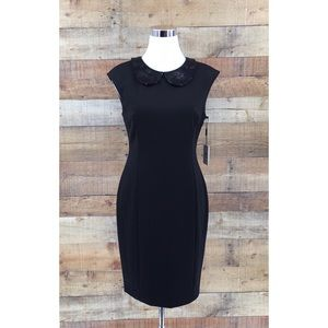NWT Calvin Klein Sequence Collared Sheath Dress